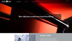 Screenshot Website www.knopfsohn.de