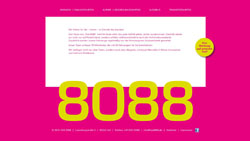 Screenshot Website www.taxi8088.de